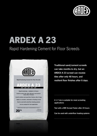 ARDEX A23 Screed Brochure