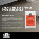 Create the best finish ever with Ardex!