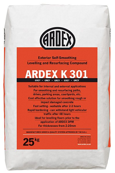 Ardex K 301 Smoothing Compound Levelling Compound