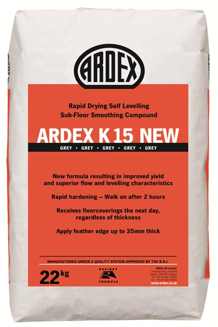 ardex k 15 new sub floor levelling compound sub floor smoothing compound ardex ireland. Black Bedroom Furniture Sets. Home Design Ideas