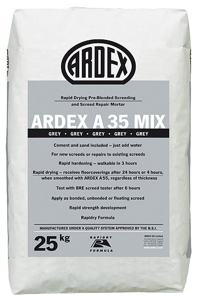 ARDEX A 35 MIX | Rapid Drying Pre Blended Screeding | Screed Repair