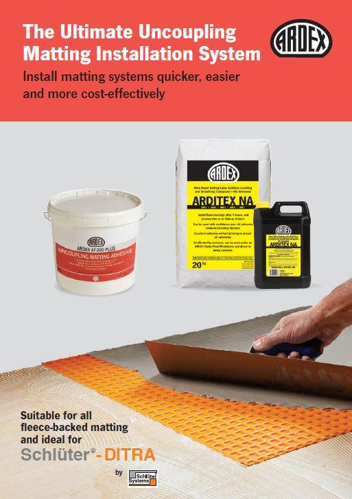 Ardex Matting Installation