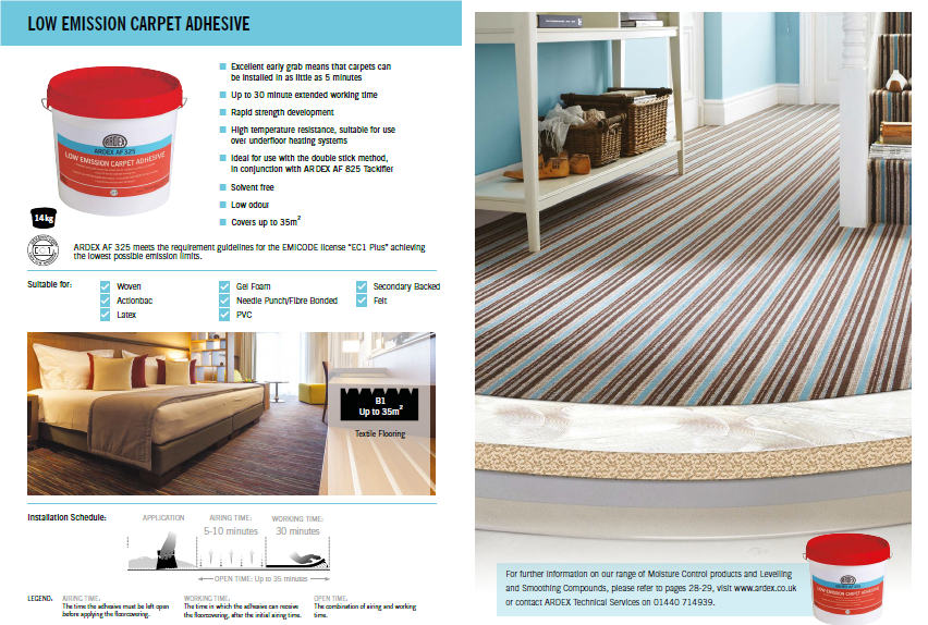 Ardex AF325   Ardex Ireland   Carpet Adhesive   Flooring